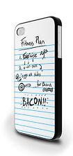 Piano di fitness Bacon Divertente Slogan Cover Custodia Per iPhone 4/4s 5/5s 5c 6 6 Plus