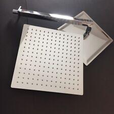 """SPECCHIO CROMATA Cubo Quadrato Pioggia Soffione della Doccia 25cm10"""" o 36 cm 14"""" + BRACCIO MURO LUNGO 36cm"""