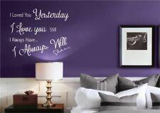 LOVE YOU sempre Romance Muro Arte Muro Adesivo Decalcomania Murale Stencil in Vinile Stampa