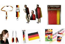 Deutschland-Fanartikel WM Schlüsselband Schminkstift Cape Ohrclips Autofahnen
