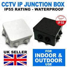 Noir étanche IP Outdoor Boîte De Jonction IP55 pour extérieur jardin CCTV Electric