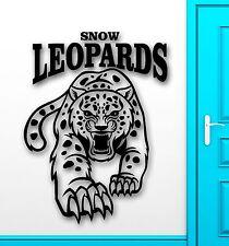 Wall Sticker Vinyl Decal Snow Leopard Predator Animal Tribal Decor (ig2237)