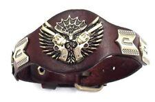 Biker Leather Gun Bracelets Buckle Wrap  Adjustable  Punk Rock Hiphop
