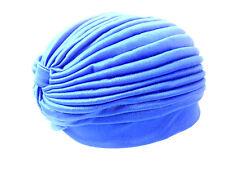 UNIQUE LADIES ROYAL BLUE FASHION TURBAN/HAT COMFORTABLE WEAR NEW ICONIC (BL8)