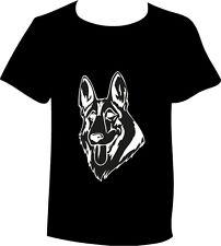 T-Shirt Deutscher Schäferhund Hunderasse Kopf Motiv Hundemotiv Shirt