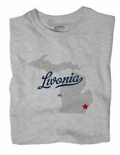 Livonia Michigan MI Mich T-Shirt MAP