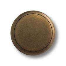 5365ei 5 schlichte alteisenfarbene Metall Ösen Knöpfe mit Zier-Rille