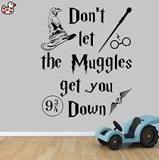 Harry Potter non lasciare che i babbani stile Citazione Vinile Muro ARTE Sticker Preventivo