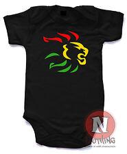 Naughtees Clothing Rasta Lion reggae dub Babygrow Babysuit 100% cotton new