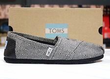 Toms Classics Women Black Diamond Wool 10006154 Sz6-10 Fast Shipping O6