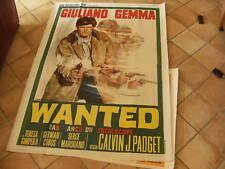 MANIFESTO ORIGINALE WANTED GIULIANO GEMMA 1966