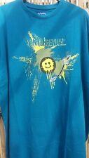 Big Homme métaphore vynil Revival mallard bleu tee shirt 2XL3XL4XL5XL6XL7XL8XL