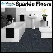 Altro Dark Grey Sparkly Bathroom Flooring Glitter Safety Flooring Wetroom Vinyl
