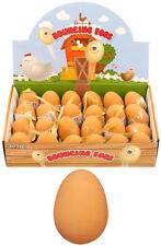 Bouncy Fake EGG Rubber Balls Egg Jet Ball Party Bag Filler joke fun 5.4cm Large