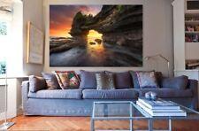 Beach Cave Ocean Australian Made Framed Ready to Hang wall Canvas choose size