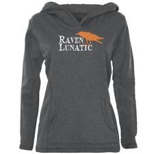 Halloween Raven Lunatic Womens Pullover Hoodie