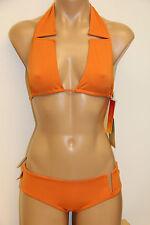 NWT SAUIPE Swimsuit Gabrielle Bikini 2 pc set Size S  Orange