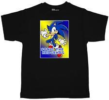 Childrens Kids Tee Shirt  SONIC THE HEDGEHOG quality black cotton Kids T Shirt