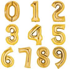 Folienballon 80cm GOLD Zahlenballon Luftballon Geburtstag Ziffer Zahl Helium