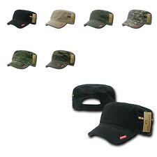 New BDU Patrol Fatigue Cadet Military Cotton w Zipper Adj Camo Caps Cap Hat Hats