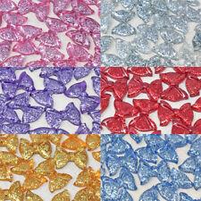 20x 25mm Brillo Resina Arcos Shabby Chic Flatbacks Artesanía Adornos - 6 Colores