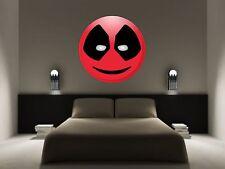 Deadpool emoji géant vinyle mur voiture décalque autocollant 5 taille chambre école bureau