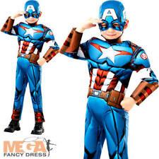 Deluxe Capitan America Infinity War Ragazzi Costume Supereroe Avengers Costume