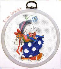 Humphrey Elephant - Party Time - Semco cross stitch kit - includes frame