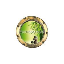 Sticker trompe l'oeil Galets Bambous réf:hublot  H331