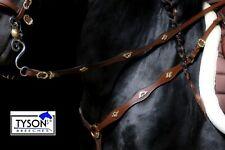 Hufglocken neopreno imitación cuero negro o marrón brillo l o XL VB WB pedrería