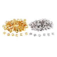 100 Pcs Gold/Silver Square Pyramid Spike Rivet Studs Spots Rock Punk 10mm