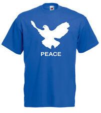PEACE Friedenstaube T-Shirt, royalblau