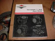 BRIGGS & STRATTON SMALL ENGINE TWIN CYL. LAWN & GARDEN MOWER TRACTOR REPAIR BOOK