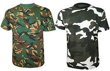Para Hombre Verano Camuflaje Imprimir Tiro Caza casualt Camisas Tallas S - 5xl