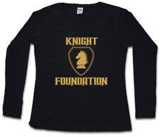 BLACK KNIGHT FOUNDATION LOGO DAMEN LANGARM T-SHIRT Rider Hasselhoff K.I.T.T.