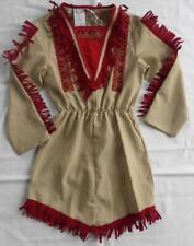 Indianer Apache Wilder Westen Kleid Kinder Mädchen Squaw Indianerin Sioux Kostüm