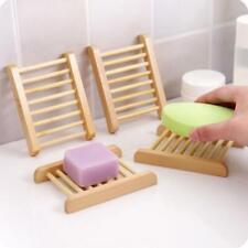 5 X Natural Wooden Soap Tray Bathroom Kitchen Bamboo Holder Dish Box Rack Home