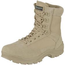 Tactical Side Zip Security Police Combat Army Mens Boots Desert Khaki 5-12 UK