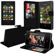Schutz Hülle für Nokia Asha 503/ 503 Dual SIM Handy Brieftasche Flip Case Cover