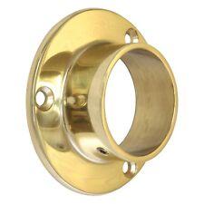 Brass End Flange / Socket / Bracket   3 Sizes - 25mm, 38mm & 51mm