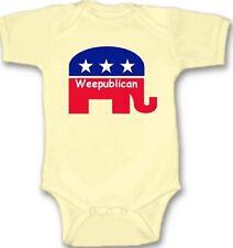 Weepublican Republican Baby Bodysuit Creeper New Adorable Gift Short Sleeve