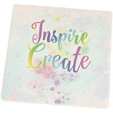 Inspire and Create Pastel Half Tone Art Set of 4 Square Sandstone Art Coasters