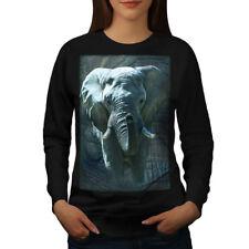 Enorme Elefante Caminar Mujeres Sudadera NUEVO | wellcoda
