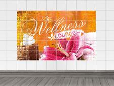 Fliesenaufkleber Fliesenbild Fliesensticker für Badezimmer Schriftzug Wellness