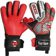Soccor Football Goalkeeper Gloves Goalie Flat Roll Finger Protection Size 5 6 7