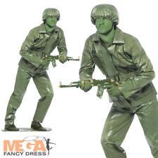 Verde Soldado De Juguete + Sombrero para hombre Vestido Elaborado Disfraz Militar Ejercito Uniforme De Toy Story
