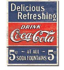 Coca Cola Coke Delicious Refreshing Tin Sign
