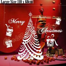 60- 110CM Huge Luxury Merry Christmas Tree Gift Present Shop Window Wall Sticker