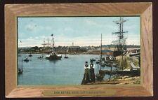Sussex LITTLEHAMPTON The Riverside Tall ship paddle steamer 1903 PPC