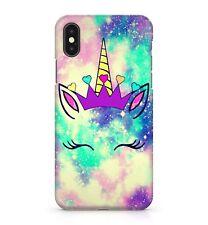 Magical Space Unicorn Rainbow Galaxy Love Hearts Purple Crown Phone Case Cover